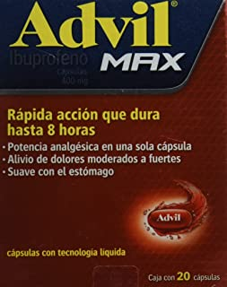Advil Max Tabletas, 400 mg, 20 Piezas