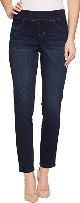 Marla Pull-On Fluid Denim Leggings in Dark Indigo