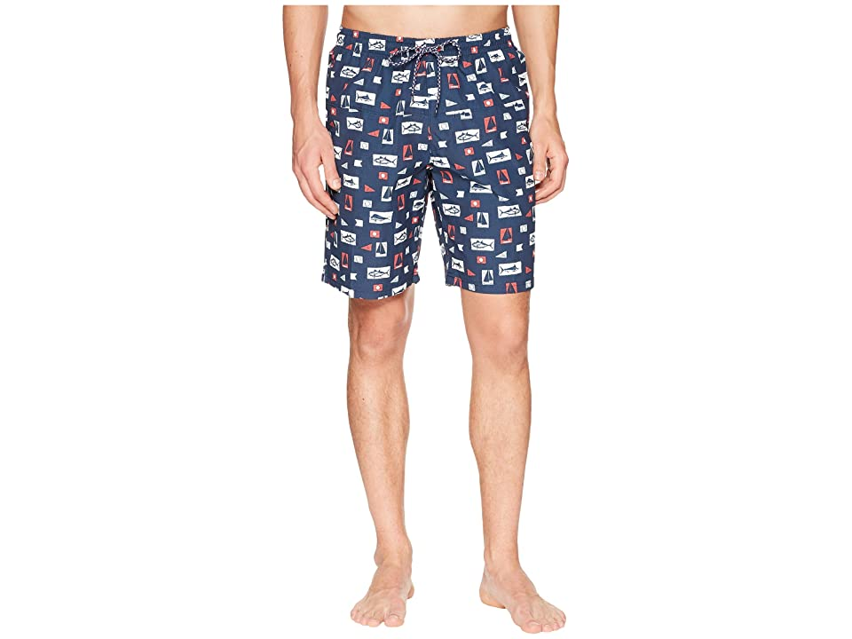 Columbia Harborside Swim Trunk (Collegiate Navy Gamefish Flags) Men