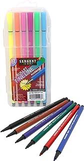 Sargent Art (SARAD) Sargent Art 22-1493 12 Bullet Fine Line Markers, Case, Detail Coloring