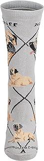 Mastiff Gray Cotton Dog Novelty Socks for Adults 9-11