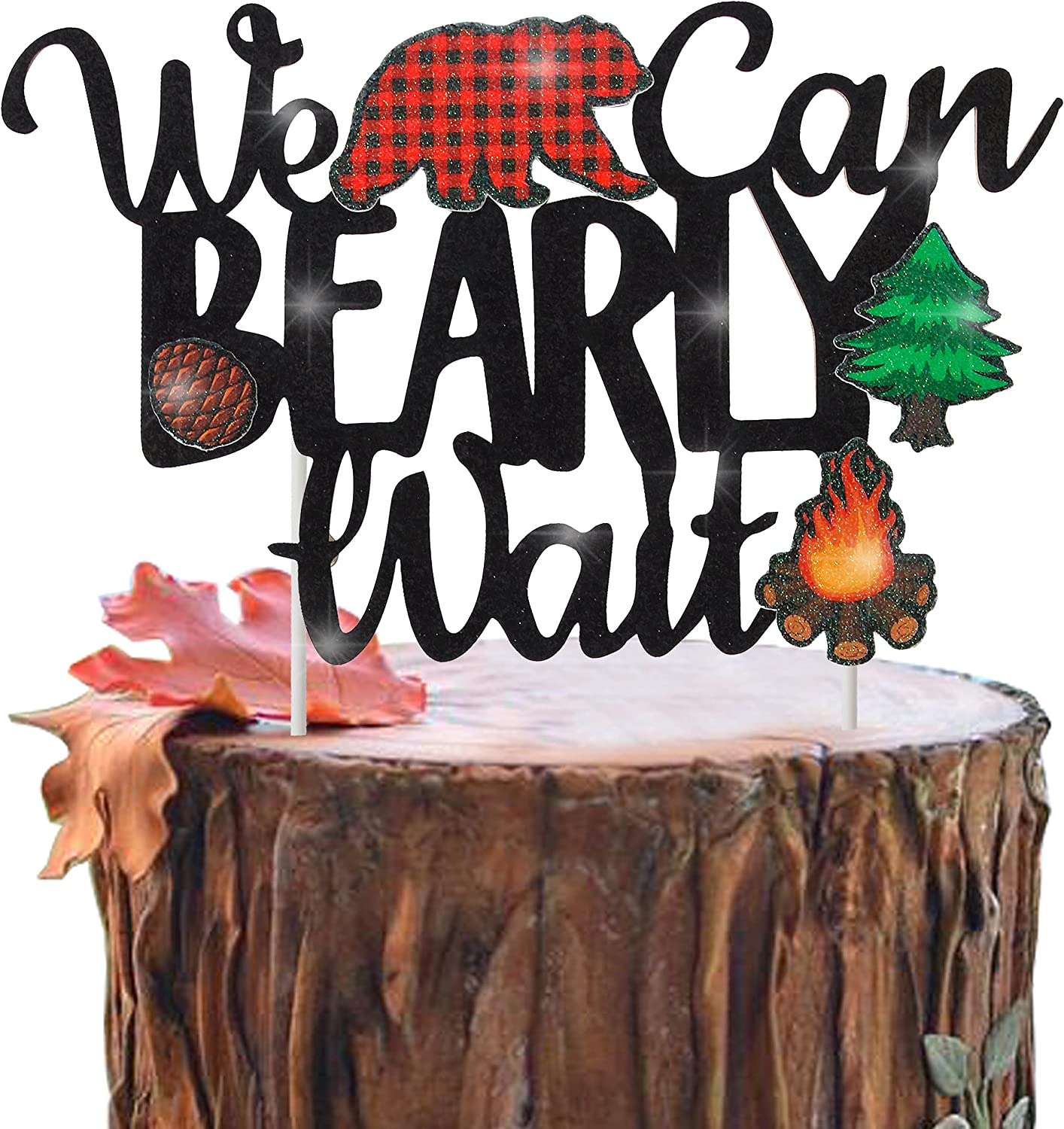 Lumberjack We Can Bearly excellence Wait Quantity limited Topper Shower Cake Baby