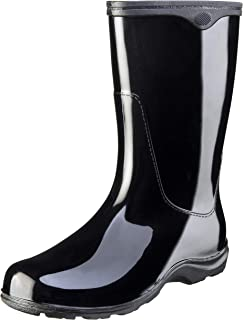 Sloggers Women's  Waterproof Rain and Garden Boot with Comfort Insole,  Classic Black, Size 7, Style 5000BK07