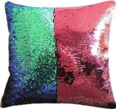 MOCOFO Glitter Pillow, Reversible Sequins Pillow Cover Magic Mermaid Fish Pillowcase Parkly Fun Flip Sequins Throw Pillow ...
