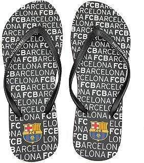 FCBarcelona Chanclas Hombre Verano Playa Piscina - Sandalias Goma Planas Caminar Zapatos colección Futbol Club Barcelona -...