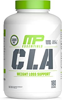MP Essentials CLA 1000 High-Potency, Natural Weight-Loss Exercise Enhancement, Increase Lean Muscle Mass, Non-Stimulating, Gluten-Free, Non-GMO Conjugated Linoleic Acid, 180 Servings