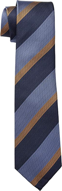 The Andrew Blue/Orange Stripe Tie