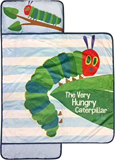 Jay Franco Eric Carle The Hungry Caterpillar Nap Mat - Built-in Pillow and Blanket - Super Soft Microfiber Kids'/Toddler/Children's Bedding, Ages 3-7 (Official Eric Carle Product)