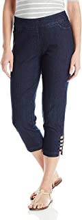 SLIM-SATION Women's Pull On Solid Corp With Real Front & Back Pockets & Straps