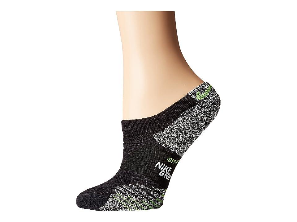 Nike NIKEGRIP Lightweight No Show Training Socks (Black/Volt) Women