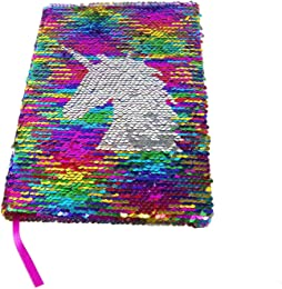 Maygone Carnet Sequin Licorne Réversible Cahiers S