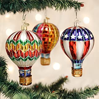Old World Christmas Ornaments: Hot Air Balloon Glass Blown Ornaments for Christmas Tree