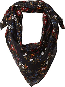 Bird Floral True Black