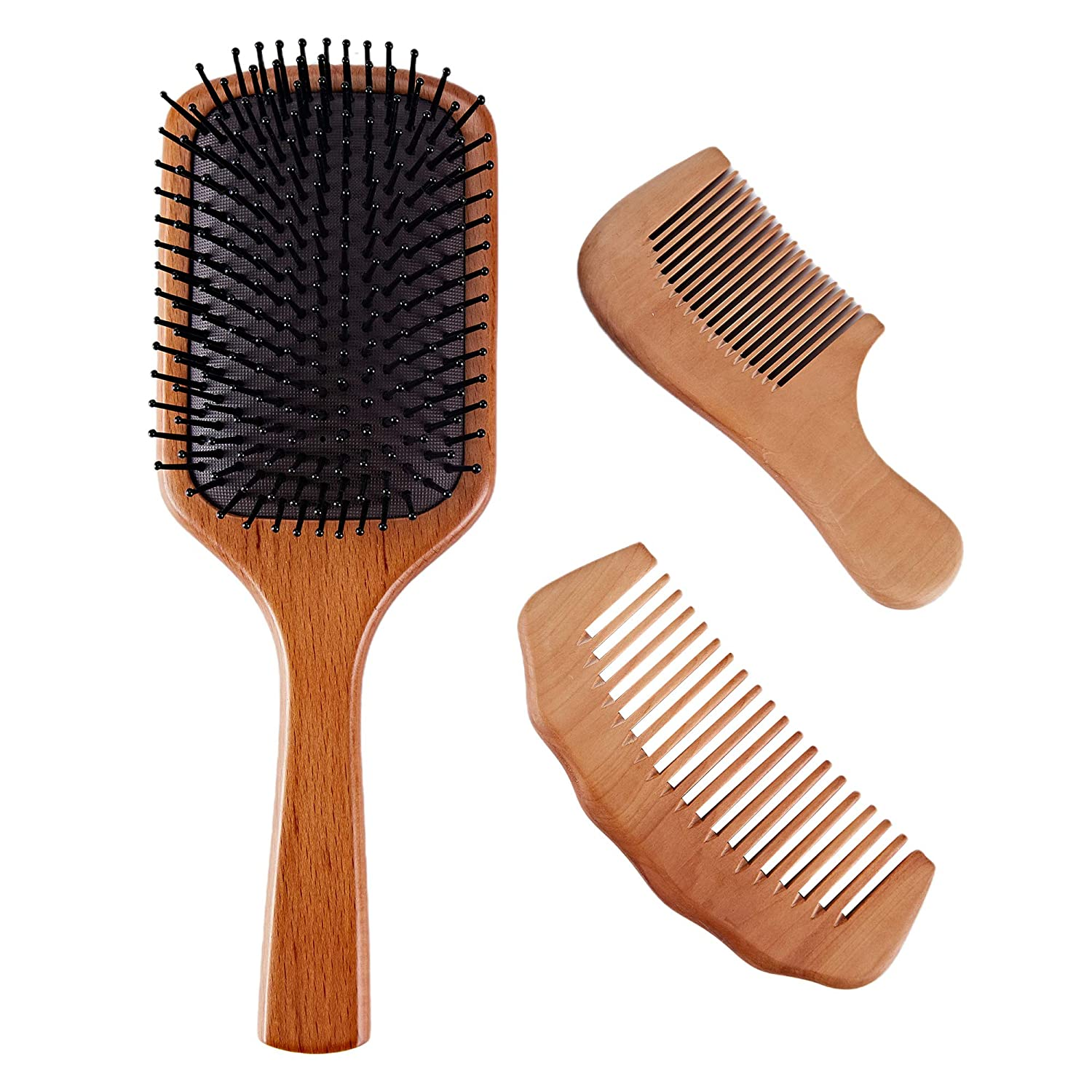 SELRSUF Nature Wooden Paddle Brushes Special Campaign Sale special price Massage Hair Kit Comb and