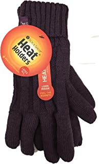 Thick Warm Fleece Lined Cold Weather Winter Thermal Gloves - Purple