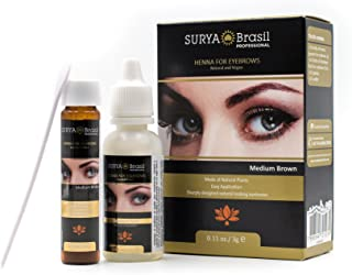 Surya Brasil Henna for Eyebrows (with Sleek Compact Mirror) (Black)