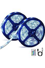 Acuarios Lun REFURBISHHOUSE 2x5m 10M 3528 tira flexible SMD LED RGB 600 Lampara de luz de la cinta 44 Controlador Colores IR Key Ideal para jardines Bar Casas Coches cocina debajo del gabinete