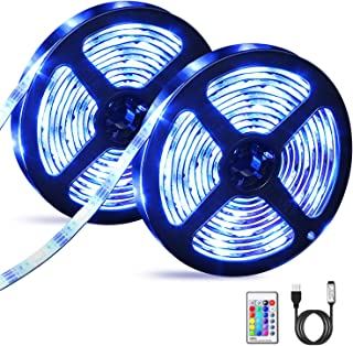 OMERIL Tira LED RGB 6M Impermeable, Tiras LED USB con