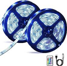 Striscia LED RGB 5050, OMERIL 6M (2x3m) LED Striscia TV con Telecomando RF, 16 Colori e 4 Modalità, Impermeabile Strisce LED alimentata USB per Decorazioni, Cucina, Bar, Festa, Natale, TV ecc