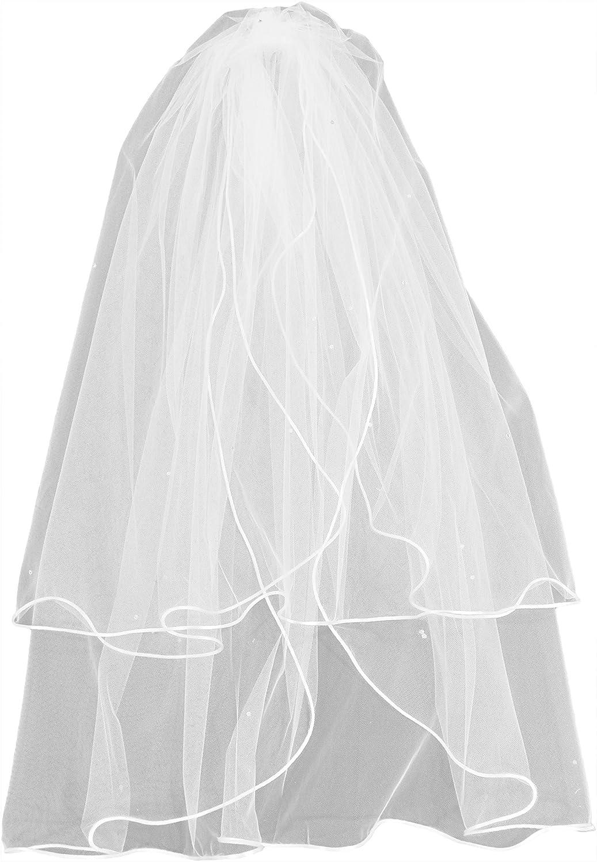 Shop Ginger Wedding Womens 2T Fingertip Swarovski Crystal Bridal Veil