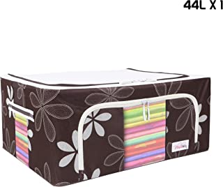 BlushBees® Living Box - Storage Boxes for Clothes, Saree Cover Bags - 44 Litre, Pack of 1, Brown