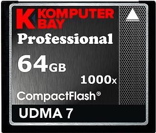 KOMPUTERBAY 64GB Professional Compact Flash Card CF 1000X 150MB/s Extreme Speed UDMA 7 RAW 64 GB