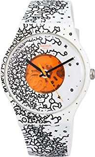 Swatch Unisex Adult Analogue Quartz Watch with Silicone Strap SUOW167