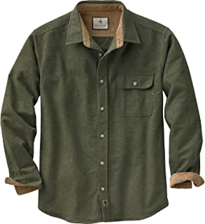 Mens Buck Camp Flannel Shirt, Army, XXXX-Large