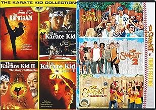 The Family Movie Sport Set SANDLOT DVD & Karate Kid - Sandlot 1, 2 & 3 Karate Kid 1,2 &3 + Remake