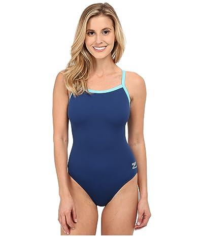 Speedo Endurance+ Flyback Training Suit (Navy/Blue) Women