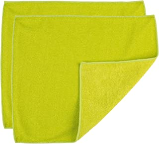 "Casabella Microfiber 12""X14"" All Purpose Cloth, Pack of 2 Green Scrubby"