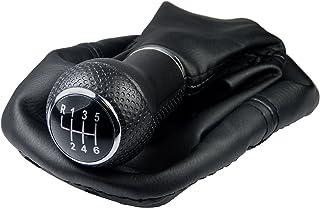 L & P Car Design L&P A254 6 Schaltsack Schaltmanschette Schwarz Schaltknauf 6 Gang 12mm kompatibel mit VW Golf 4 IV Rahmen Knauf Plug Play Ersatzteil für 1J0711113