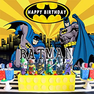 Batman Backdrop, Superhero, for Boy, Birthday, Party Supplies, Decorations, Banner, Photography, Photo Booth Props