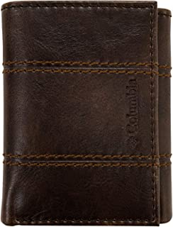 Columbia Men's RFID Trifold Wallet, Chocolate Brown, One Size