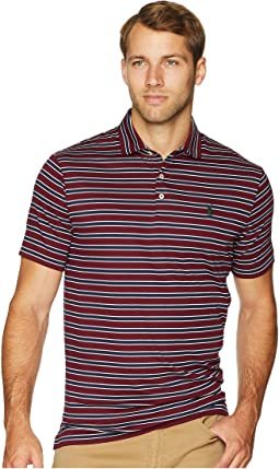 Striped Pima Polo Short Sleeve Knit