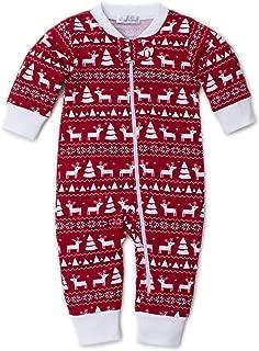 Kissy Kissy - Christmas Deer - Print Pajamas W/Zip - Snug Fit