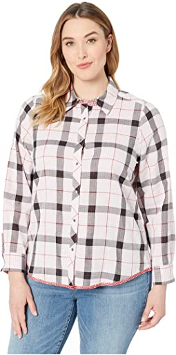 Plus Rhea Reversible Plaid