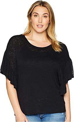 Plus Size Caroline Ruffle Sleeve Top