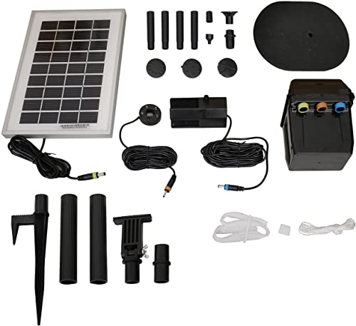 2021 Sunnydaze sale Solar Water Fountain Pump and Solar Panel online Kit with Battery Pack & LED Light, 66 GPH, 36-Inch Lift outlet online sale