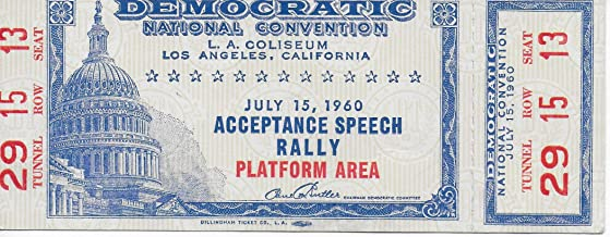 JFK Democratic National Convention Acceptance Speech Rally Original Ticket