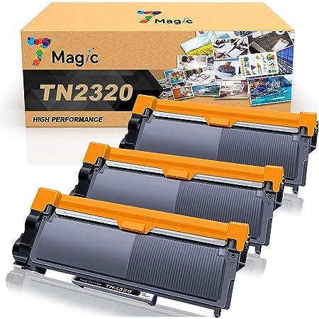 2 Noir DCP-L2520DW L2560DW L2540DN Zambrero Compatible TN2320 TN2310 Cartouche de Toner pour Brother MFC-L2700DW L2720DW L2740DW HL-L2340DW L2365DW L2360DN