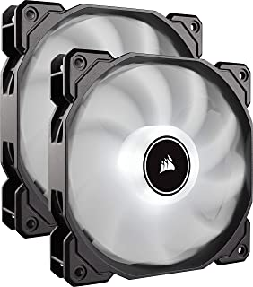Corsair Air Series AF140 LED (2018) White -Dual pack- PCケースファン 14cm FN1272 CO-9050088-WW