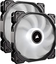 CORSAIR AF140 LED Low Noise Cooling Fan, Dual Pack - White, 140 mm