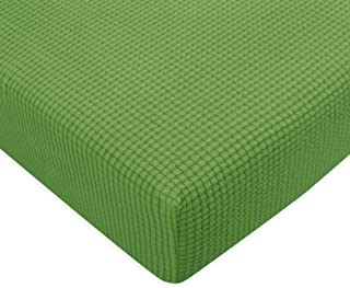 Subrtex Spandex Elastic Couch Cushion Covers Stretch Chair Loveseat Slipcover Furniture Protector Slip Covers for Settee Sofa Seat Cushion in Home Living Room (Chair Cushion, Grass Green)