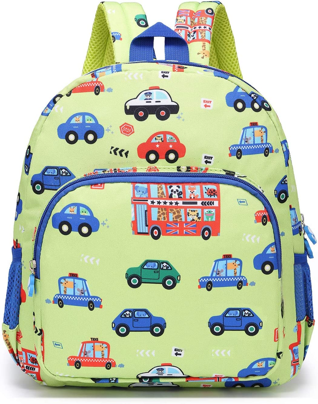 Willikiva Little Childrens Toddler Bags Cute Bus kids Backpack for Kids Boys and Girls to Travel School Backpack (Green)
