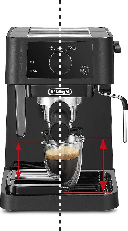 1100 W 1 l DeLonghi Stilosa Advanced EC235.BK colore: Nero Macchina da caff/è a pompa con 15 bar di pressione