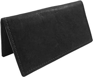 Handmade Genuine Bison Leather USA Made Checkbook Cover