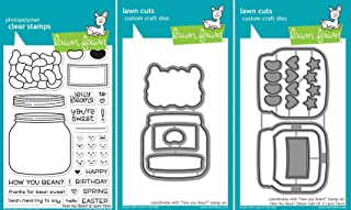 Lawn Fawn - How You Bean? - Clear Stamp & Dies Set - Includes One Stamp & Two Dies - Bundle Of 3