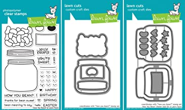 Lawn Fawn – How You Bean? – Clear Stamp & Dies Set – Includes One..