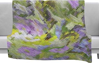 Magenta Coral Watercolor Throw 60 x 40 Fleece Blankets Kess InHouse EBI Emporium Flutter